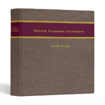 Estate Planning with Custom Name 1-inch binder