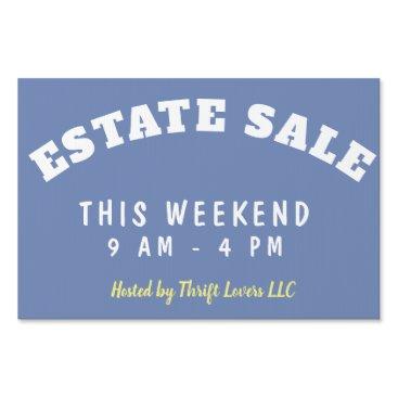 Estate Sale Event Customizable Yard Sign