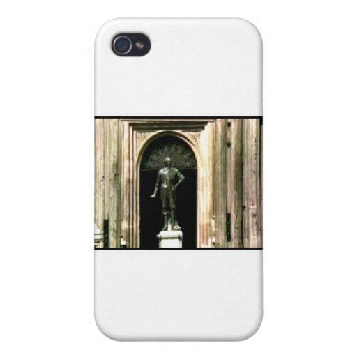 Estatua 1986 de Shakespeare de la foto de Oxford E iPhone 4 Funda