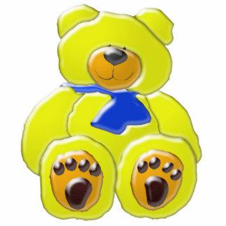 ¡Estatua amarilla adorable de la foto del oso Escultura Fotografica