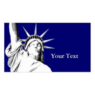 Estatua americana de la tarjeta de visita de la li