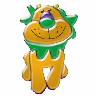 Estatua anaranjada de la foto del león esculturas fotograficas