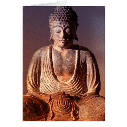 Estatua asentada de Buda Tarjeta