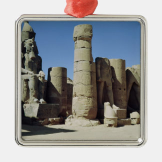 Estatua asentada de Ramesses II Ornamento Para Arbol De Navidad