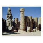 Estatua asentada de Ramesses II Tarjetas Postales
