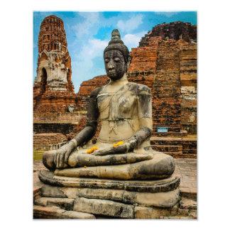 Estatua Ayutthaya Tailandia de Buda Cojinete