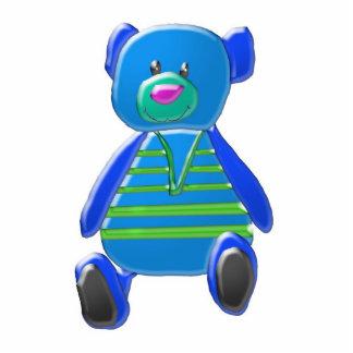 Estatua azul de la foto del oso esculturas fotograficas