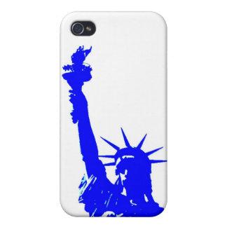 Estatua azul del arte pop de la cubierta de la iPhone 4/4S carcasa
