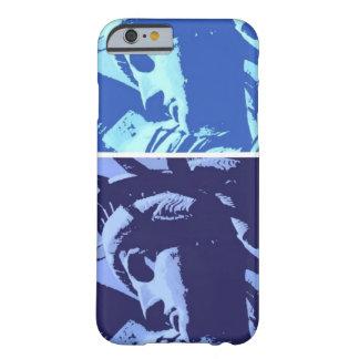 Estatua azul del arte pop del caso del iPhone 6 de Funda Barely There iPhone 6