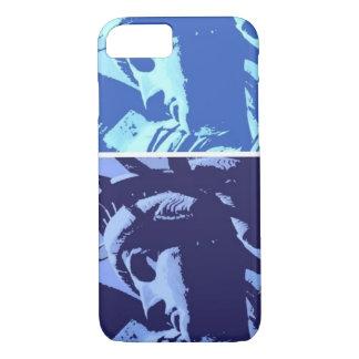 Estatua azul del arte pop del caso del iPhone 7 de Funda iPhone 7