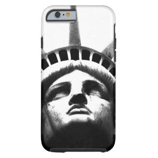 Estatua blanca negra del caso del iPhone 6 de la Funda Resistente iPhone 6