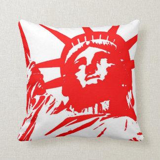 Estatua blanca roja de arte pop de la almohada de cojín decorativo
