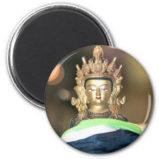 Estatua budista de Chenrezig Imán Redondo 5 Cm