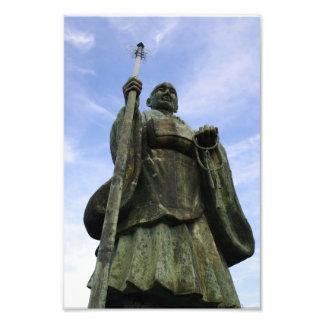 Estatua budista de Imayama Kobo Daishi Fotografía