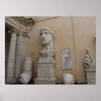 Estatua colosal de Constantina, Roma, 315-220 Posters