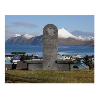 Estatua conmemorativa de la relocalización de tarjeta postal