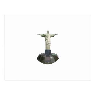 Estatua: Cristo el redentor: modelo 3D: Postal