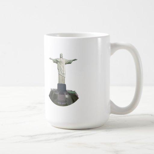 Estatua: Cristo el redentor: modelo 3D: Taza Básica Blanca