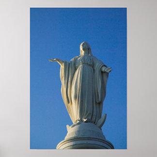 estatua de 118 pies del Virgen María en San Póster