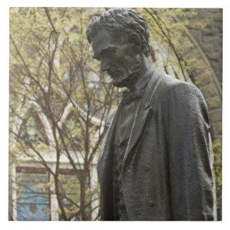 Estatua de Abraham Lincoln, Portland, Oregon Azulejo Cuadrado Grande