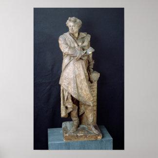 Estatua de Alejandro Dumas Pere, c.1883-87 Posters
