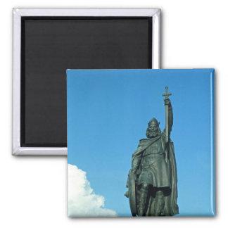 Estatua de Alfred el grande Imán Cuadrado