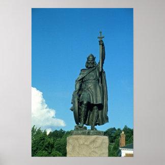 Estatua de Alfred el grande Póster