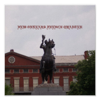 Estatua de Andrew Jackson Poster