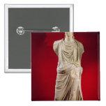 Estatua de Antonia el más joven Pin Cuadrado