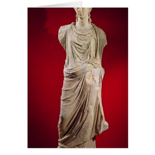 Estatua de Antonia el más joven Tarjeta De Felicitación