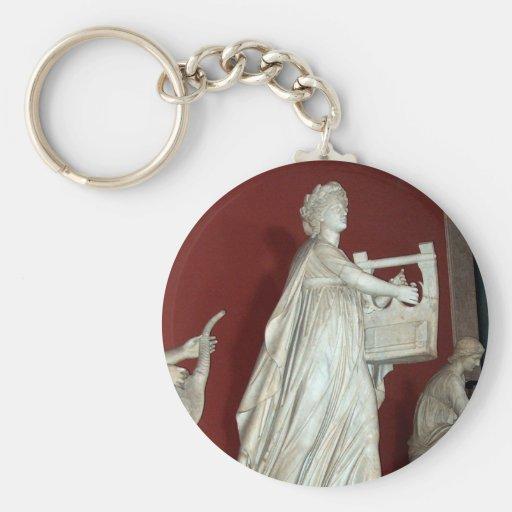 Estatua de Apolo en el museo de Vatican Llavero Redondo Tipo Pin