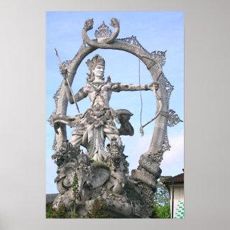 Estatua de Arjuna Posters