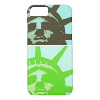 Estatua de arte pop del cierre de la libertad funda iPhone 7