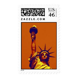 Estatua de arte pop del franqueo de la libertad