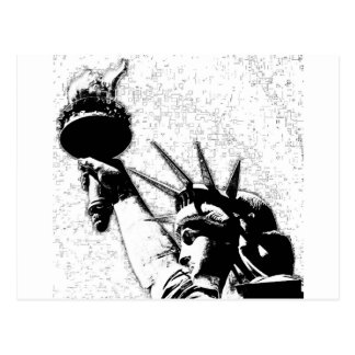 Estatua de B&W de la libertad Postal