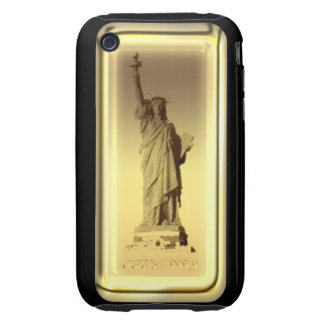 Estatua de barra de oro de la caja de la casamata  tough iPhone 3 funda