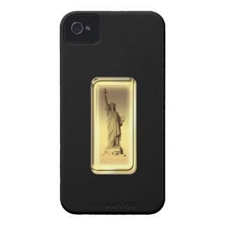 Estatua de barra de oro de la caja de la casamata  iPhone 4 fundas