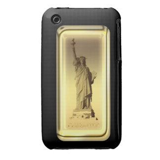 Estatua de barra de oro de la caja de la casamata  iPhone 3 Case-Mate protector