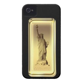 Estatua de barra de oro de la caja de la casamata  Case-Mate iPhone 4 cárcasa