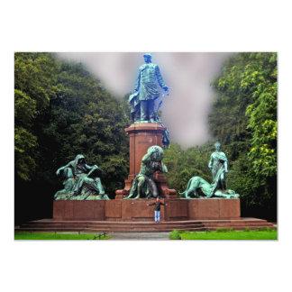 Estatua de Bismarck, Berlín, panorámica Invitación 12,7 X 17,8 Cm