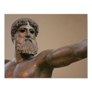 """Estatua de bronce de Zeus en Atenas Grecia Invitación 4.25"""" X 5.5"""""""