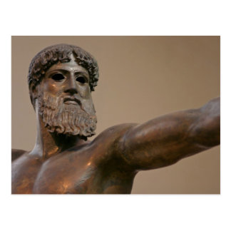 Estatua de bronce de Zeus en Atenas Grecia Postal