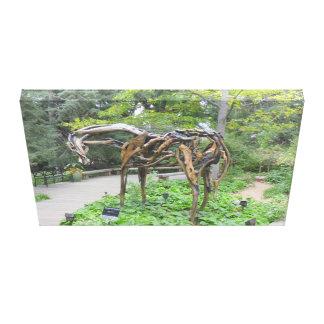 Estatua de bronce del caballo por Butterfield Impresión En Lienzo