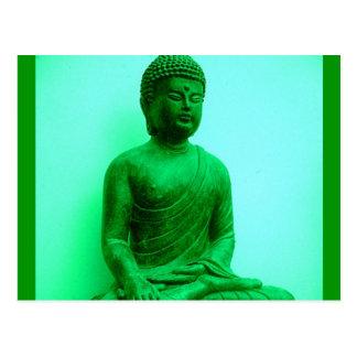 Estatua de bronce verde de Buda por Sharles Tarjetas Postales