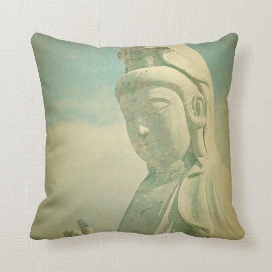 Estatua de Buda Antiqued Cojín Decorativo