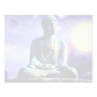 Estatua de Buda con el sol Membrete A Diseño