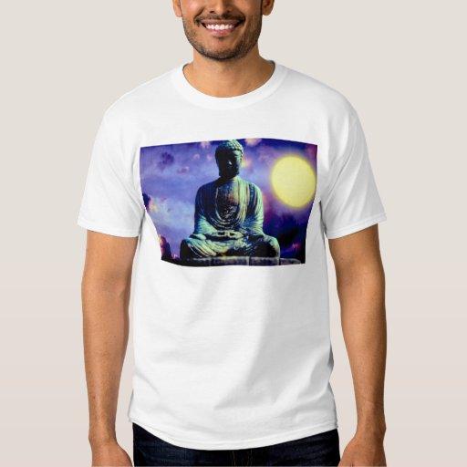 Estatua de Buda con el sol Playeras