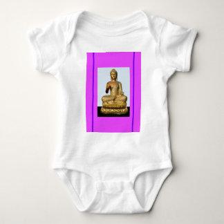 Estatua de Buda de la violeta y del oro por Playeras