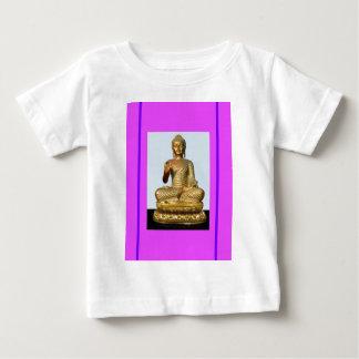 Estatua de Buda del oro en violeta Playera
