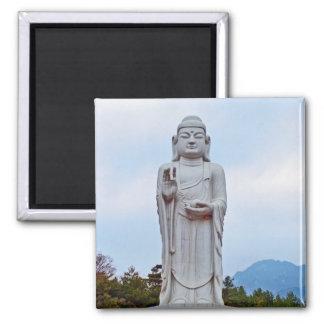 Estatua de Buda en la Corea del Sur, Asia Imán Cuadrado